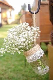 Hanging Mason Jar Vases Set Of 6 Wedding Aisle Decor Rustic