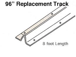 Peachtree Patio Door Replacement by Door Replacement Track 96 Inch Stainless Steel