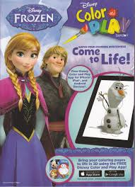 Disney Princess Frozen Color And Play Come To Life In 3d Coloring Book W App