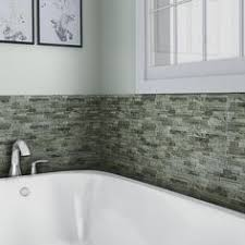Menards Beveled Subway Tile by Mohawk Glasen Stone White Arabesque 12