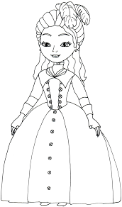 Sofia The First Coloring Pages Princess O