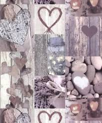 Image Is Loading Photographic Wood Panel Arthouse Rustic Heart Natural Wallpaper