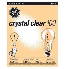 ge 97489 24 clear general purpose a19 bulb 100 watt 24