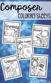 A Huge Bundle Of Composer Coloring Pages That Are Perfect For Early Finishers Sub Tubs