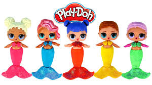 Play Doh LOL Surprise Dolls Mermaids Doll Makeovers Girl Games With