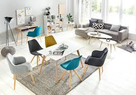 wohnling 2er set retro esszimmerstuhl lima petrol polsterstuhl stoff bezug rückenlehne design küchen stuhl gepolstert