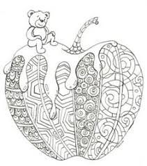 Coloring Page For Rosh Hashanah The Jewish New Year Apple And Honey