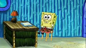 Just Spongebob Sliding On His Chair