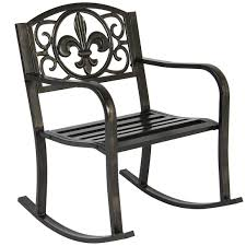 Furniture: Best Choice Products Patio Metal Rocking Chair ...