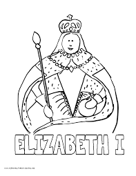World History Coloring Pages Printables Queen Elizabeth