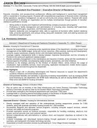 Assistant Vice President Resume Example