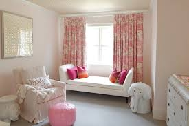 Yellow And White Curtains For Nursery by Yellow And Pink Nursery With Pink Daybed Transitional Nursery