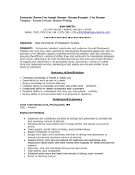 Resume Objective Sample For Hotel And Restaurant Management Save Sradd