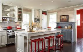 Cute Kitchen Decorating Themes Amusing Red Accents 2017