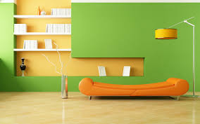 orange living room TjiHome