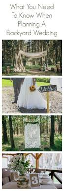 What You Need To Know When Planning A Backyard Wedding