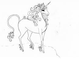 The Last Unicorn Coloring Pages Lovely Drawing At Getdrawings