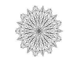 Mandala Flower Coloring Page