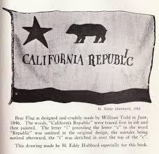H Eddy Hubbard 1939 Black White California Bear Flag Drawing