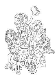 Free Lego Friends Coloring Pages To Print