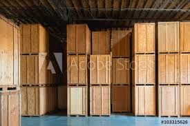 Clean Storage Warehouse With Custom Crates Solutions Made Of Wood Interior
