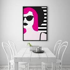 Amazoncom Pop Art Chic Poster Home Decor Living Room