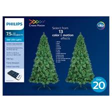 Christmas Tree 75 Ft by Philips 7 5ft Prelit Artificial Christmas Tree Douglas Fir Color