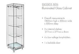 glass freestanding display cabinets range shopkit uk