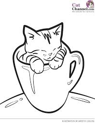 Cats Coloring Page Cat And Kitten Pages Free Wild