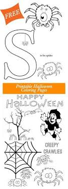 Get These Free Halloween Printable Coloring Pages From Major Hoff Takes A Wife Super Cute Feature Friendly Spiders The Letter S And Few Other