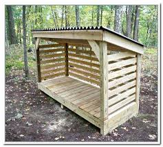 How To Build A Firewood Storage Shed Pallet Wood Storage Shed