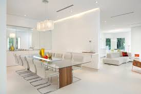 Chair 20 Minimalist Dining Rooms Sets With White Chairs Lighting Room Modern