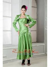 Modest Spring Green Mother Of The Bride Dress A Line Sweetheart Elastic Woven Satin Appliques