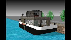100 House Boat Designs The Blob On Floating EcoBarge Contempoary Boat With