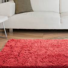 Chenille Carpet by Somerset Home High Pile Shag Rug Carpet Coral 21
