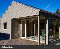 100 Modern Summer House Style Designed Private Wooden Home Stock Photo