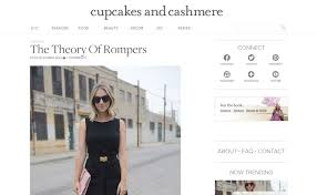 Cupcakes And Cashmere Has A Very Clean White Gray Pale Pink Color Scheme