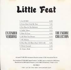 Little Feat Fat Man In The Bathtub by Cd Album Little Feat Extended Versions The Encore Collection