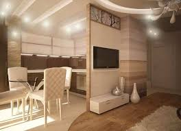 Partition Between The Kitchen And Living Room For Luxury With Beautiful Ceiling Decoration