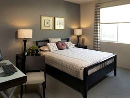 Simple Bedroom Decorating Ideas With Grey Wall Color And Gingham Curtain Good Colors To Paint A