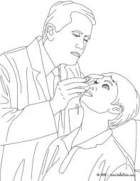 Dermatologist Ophthalmologist Doctor Coloring Page