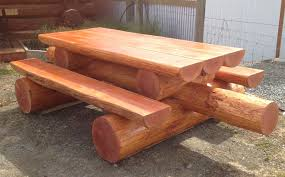 log picnic table best tables