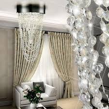 chrom led 12 watt deckenleuchte kristallbehang acryl deckenle wohnzimmer esto 740036