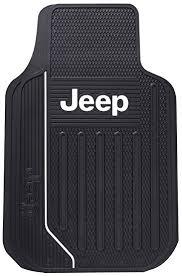 Amazon Jeep Logo Rubber Floor Mats Pair Automotive