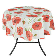 Square Patio Tablecloth With Umbrella Hole by Tablecloths The Home Depot