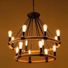 original vintage rope industrial style light retro edison bulb