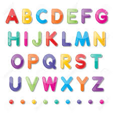 Colorful Paper Capital Letters A To Z Fonts Royalty Free Cliparts