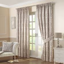 Linden Street Blackout Curtains by Linden Natural Jacquard Lined Pencil Pleat Curtains Pair