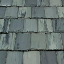 flat roof tile concrete black slate look charcoal