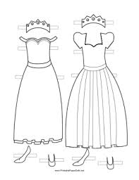 Printable Paper Dolls Princess Paper Doll Outfits to Color paper doll